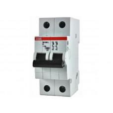Выключатель автоматический двухполюсный 25А С SH202L 4.5кА