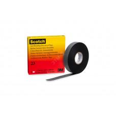 Изолента резиновая черная 19мм 9.1м сырая резина Scotch 23