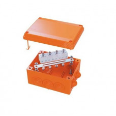 Коробка пластиковая FS с гладкими стенками и клеммниками IP56 100х100х50мм 6р 450V 6A 4мм.кв (FSB10604)
