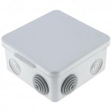 Коробка распаячная с крышкой КМР-030-014 наружная 105х105х50 АБС серая 8 входов IP54