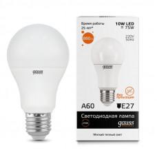 Лампа светодиодная LED 10вт 230в Е27 теплый Gauss Elementary