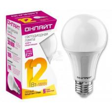 Лампа светодиодная LED 12вт Е27 теплый ОНЛАЙТ