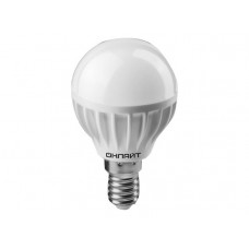 Лампа светодиодная LED 8вт E14 белый матовый шар ОНЛАЙТ
