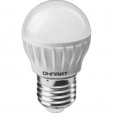 Лампа светодиодная LED 8вт E27 теплый матовый шар ОНЛАЙТ