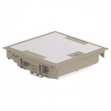 Коробка напольная крышка для коврового покрытия 18 модулей бежевая (89612)