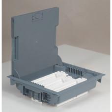 Коробка напольная крышка для коврового покрытия 24 модулей серая (89616)