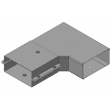 Короб угловой горизонтальный У1093 оцинкованный (У1093УТ2,5)