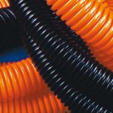 Труба гофрированная ПНД 16мм с протяжкой легкая черная 100м (71716)