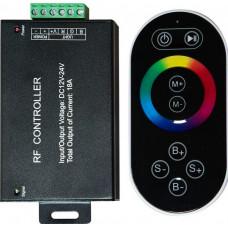 Контроллер к LED ленте RGB 12/24v с сенсорным черным ПДУ провод-20см