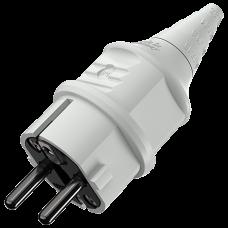 Вилка кабельная 16А 2Р+E IР44 переносная 230В серая SCHUKO