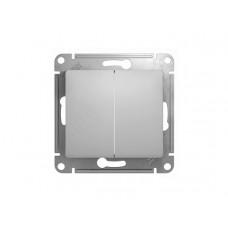 GLOSSA Выключатель двухклавишный в рамку белый сх.5