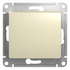 GLOSSA Выключатель одноклавишный в рамку бежевый сх.1