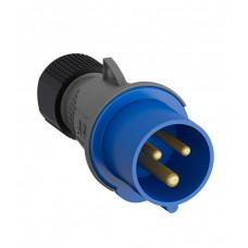 Вилка кабельная 16А 2Р+E IР44 переносная 250В Easy&Safe (216EP6)