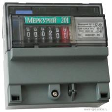 Счетчик электроэнергии Меркурий 201.5 однофазный однотарифный, 5(60), кл.точ. 1.0, D, ЭМОУ, имп. выход