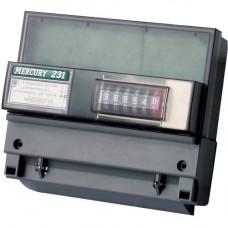 Счетчик электроэнергии Меркурий 231 АМ-01 трехфазный однотарифный, 5(60), кл.точ. 1.0, D, ЭМОУ, имп. выход