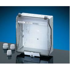 Бокс пустой 253х217х115 IP55/IP65 пластиковый прозрачная пломбируемая дверь серый (KG 9003)
