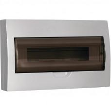 Щит распределительный навесной ЩРн-П-12 IP41 пластиковый белый прозрачная дверь