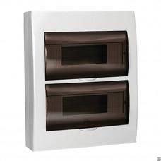Щит распределительный навесной ЩРн-П-24 IP41 пластиковый белый прозрачная дверь