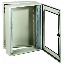Шкаф 19 с прозрачной дверью 2 корпуса 10U глубина 380мм