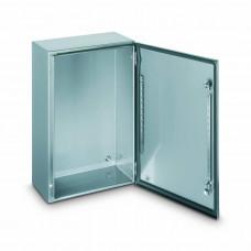 Шкаф со сплошной дверью 1000х800х300мм нержавеющая сталь
