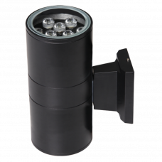 Светильник светодиодный ДБУ- 2х9Вт 6500 800Лм черный
