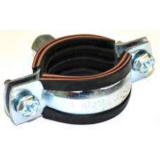 """Хомут стальной с резиновой прокладкой Ду 32-36 (1"""") ALTEfix 1,5*20 M8/M10"""