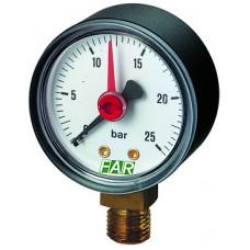 "Манометр 1/4"" (радиальное соед.) , 0-25 бар, - 30-120 °C, O 50 мм"