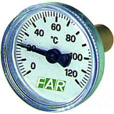 "Термометр 0-120°C, зонд 36 мм,O 40 мм, торцевое соединение 3/8"""