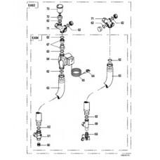 Комплект соединительных трубопроводных элементов котел DTG 130-водонагреватель BH 150 DTX