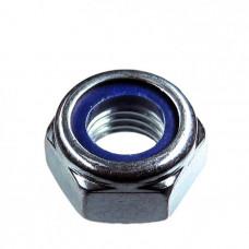Гайка шестигранная со стопорным кольцом DIN 985, покрытие белый цинк М4, 1000 шт.