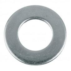 Шайба простая DIN 125, покрытие белый цинк, М10, 1 кг.