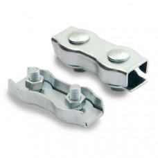 Зажим для стальных канатов двойной (DUPLEX), покрытие белый цинк, 2