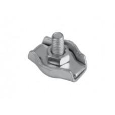 Зажим для стальных канатов одинарный (SIMPLEX), покрытие белый цинк, 2